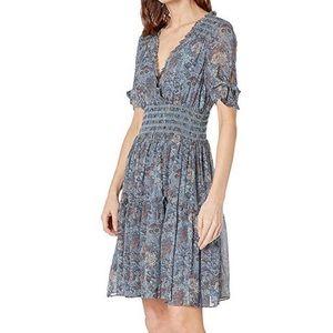 Frye NEW Natalie V-Neck Smocked waist Dress